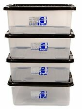 4 X 28LITRE UNDERBED PLASTIC STORAGE BOX!! ALL ROUND BOX!! CHEAP!!