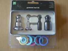 Making Memories Grommet Tool Kit, hole punch, setter, mat, tin & 12 grommets