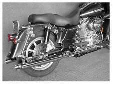 "CYCLE SHACK MHD-324SS CHROME SLIP ON MUFFLERS EXHAUST 2"" SIDE SLASH 1801-0172"