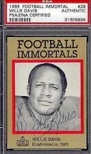 WILLIE DAVIS SIGNED 1985 IMMORTALS PSA/DNA AUTOGRAPH AUTHENTIC