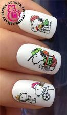 CHRISTMAS NAIL ART WATER TRANSFERS STICKERS DECALS SNOOPY WOODSTOCK WINTER #497