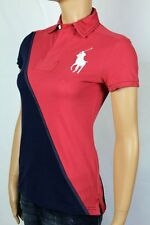 Ralph Lauren RED NAVY BLUE BIG PONY RUGBY POLO SHIRT NWT M