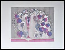 J. Fahrni Vase mit Blättern Poster Bild Kunstdruck im Alu Rahmen schwarz 60x80cm