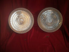 VINTAGE PAIR OF GLASS CEILING LIGHT FIXTURES