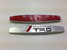 2PCS TRD RACING METAL SIDE REAR FENDER EMBLEM BADGE STICKER SIZE 98MM