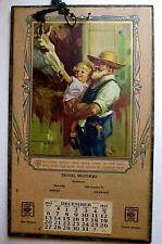 Vintage 1931 HY HINTERMEISTER Calendar Getting Acquainted Little Girl Horse