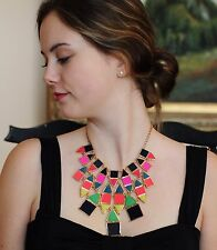 SET KATE SPADE IPANEMA TILE PUEBLO NECKLACE & EARRINGS CENTO COLORFUL STATEMENT