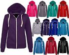 LADIES Womens zip HOODIE jacket fleece sweatshirt hooded size 8 10 12 14 lot d11