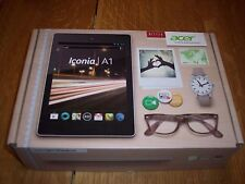 "Acer Iconia A1-810-L416 Tablet 16GB Wi-Fi In Box, Excellent Android 8"" With Case"