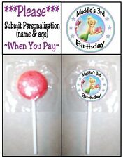24 Tinkerbell Fairy Birthday Party or Baby Shower Lollipop Stickers Tinker Bell