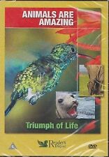 ANIMALS ARE AMAZING - TRIUMPH OF LIFE - READER'S DIGEST DVD - FREE POST IN UK