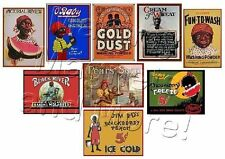 NINE MAGNETS - Black Americana Antique Labels - Ship FREE