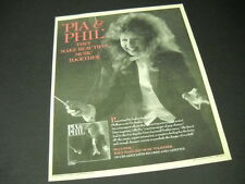 PIA ZADORA makes beautiful music with LSO 1986 PROMO POSTER AD mint condition