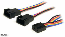 12in 4-Pin Female to Two 4-Pin Male PWM Fan Power Y Splitter Cable, PC-062