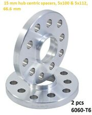 Wheel Slip On Spacers 15 mm 5x100 & 5x112 66.6 mm Hub Centric Mercedes 2 PCS