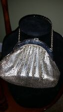 Whiting and Davis silver mesh bag with chain handle