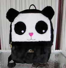 Luv Betsey Johnson Panda Bear Backpack Faux Fur Weekender Travel Bag NWT!