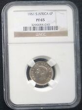 South Africa 1951 6 pence 6p 6d Proof PF65 - High Grade NGC