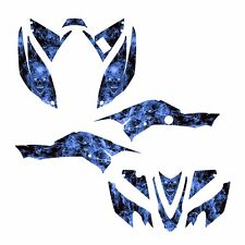 2008-2016 TRX 400 EX Graphic decal kit for Honda Quad #9500 Blue Zombie Skull