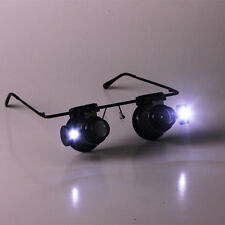 20X Magnification Glasses Type Watch Repair Magnifier with LED Light
