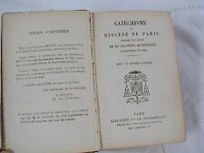 CATECHISME DU DIOCESE DE PARIS - 1908