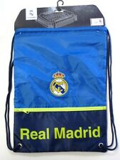 Real Madrid Club Spain Soccer Blue Green Drawstring Cinch Bag Backpack Sack Pack