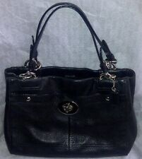 Auth Coach Peyton Penelope Satchel Carryall Tote Bag Purse F16531 Black $328