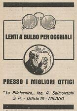 Z2138 La Filotecnica Ing. Salmoiraghi - Lenti a bulbo - Pubblicità d'epoca - Adv