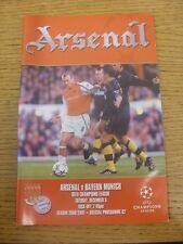 05/12/2000 arsenal v bayern munich [ligue des champions]. les défauts sont notés dans