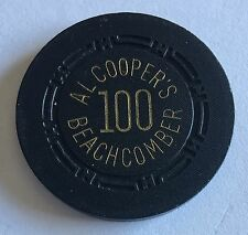 $100 Al Coopers Beachcomber 1st Issue 1951 Early Las Vegas Nevada HCE Mold CHIP
