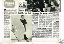 Coupure de presse Clipping 1981  (2 pages) Liliane de Kermadec