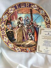 BNIB Royal Doulton  QUEEN ELIZABETH 1  KINGS AND QUEENS PLATE LT ED  CW COA