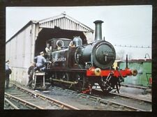 POSTCARD LOCO 'FENCHURCH' AT LOCO SHED SHEFFIELD PARK - BLUEBELL
