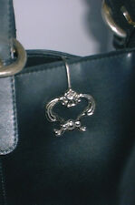 Ornate Silver KEY FINDER RING Hangs on Purse Handbag