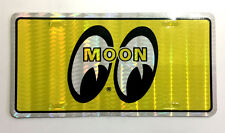 Vtg Mooneyes Prismatic Sticker Moon Eyes Equipped Hot Rod Drag Race NOS