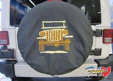 2007-2016 Jeep Wrangler Spare Tire Cover P255 LT255/75R17  P255/70R18 Mopar OEM