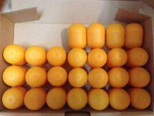 25 leere Ü-Ei Kapseln in orange - basteln, Tombola, Hochzeit