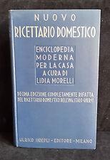 L28  ULRICO HOEPLI NUOVO RICETTARIO DOMESTICO ANNO 1941