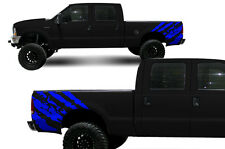 Custom Vinyl Decal Rip Wrap Kit for Ford F-250/F-350 Truck 1999-2006 Azure Blue