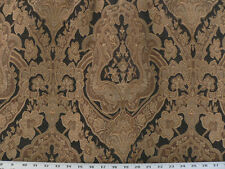 Drapery Upholstery Fabric Traditional Jacquard Chenille Brown / Black / Neutrals