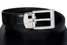 NEW Mont Blanc Classic Line Square 107664 Reversible Men's Leather Belt