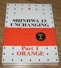 SHINHWA 13 UNCHANGING PART1 ORANGE L.E CD + PHOTOBOOK + FOLDED POSTER NEW