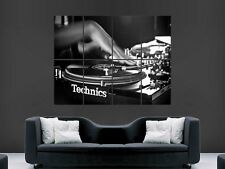 TECHNICS DECKS MUSIC DJ MIXING  GIANT POSTER PRINT
