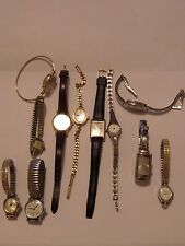 11 WATCH LOT LADIES SOME VINTAGE LADIES  LUCERNE, ANNE KLEIN, TIMEX & MORE