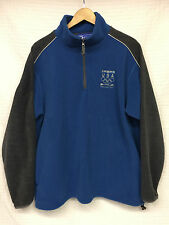 Men's TEAM USA Vancouver Olympics 2010 Fleece Pullover Jacket Large blue/ gray