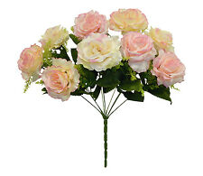PINK & BEIGE Centerpieces Roses Silk Wedding Flowers Decoration Bridal Bouquet