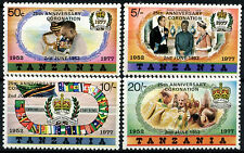Tanzania 1978 Coronation 25th Anniv MNH Small Text Set #R552