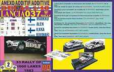 ANEXO DECAL 1/43 LANCIA 037 RALLY MARKKU ALEN 1000 LAKES 1983 (03)