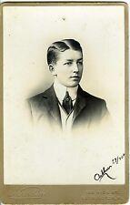 KENSINGTON NAUDIN PHOTO CAB VINTAGE PRINT ARTHUR PREND LA POSE COIFFURE 1890