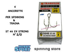 ANCORETTE OWNER TRABUCCO 5646 TN  SERIE ST 46 N 2/0   INOX  CONF 4 PZ 2X STRONG